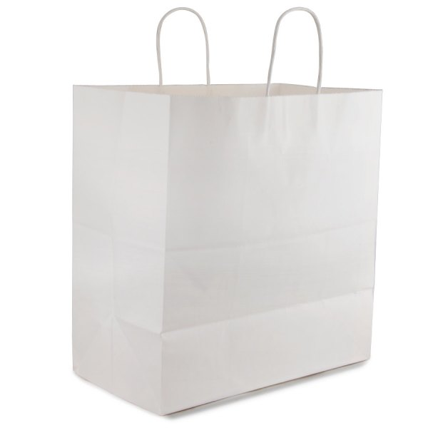 """Royal White Paper Shopping Bag with Handles 14"""" x 8"""" x 15 ..."""