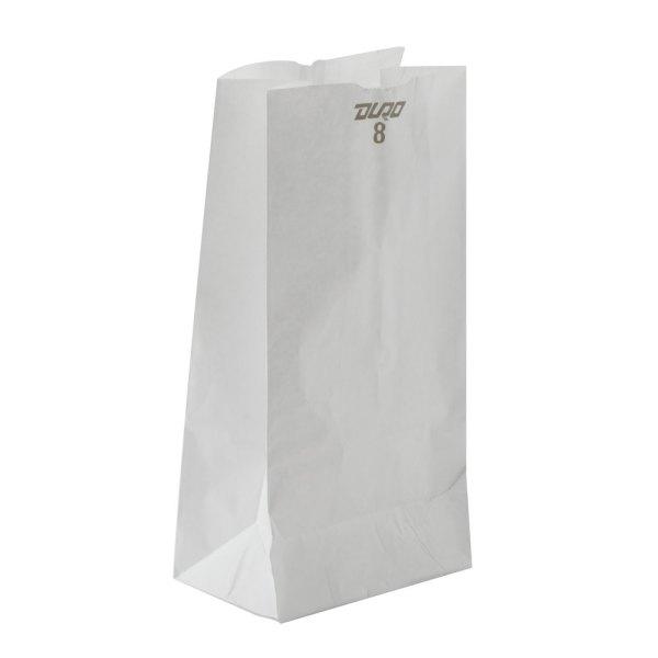 8 lb. White Paper Bag 500/Bundle
