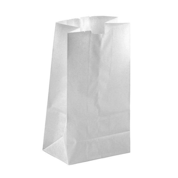 3 lb. White Paper Bag - 500/Bundle