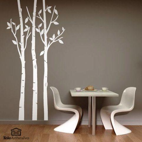 sticker mural arbres dans la foret en