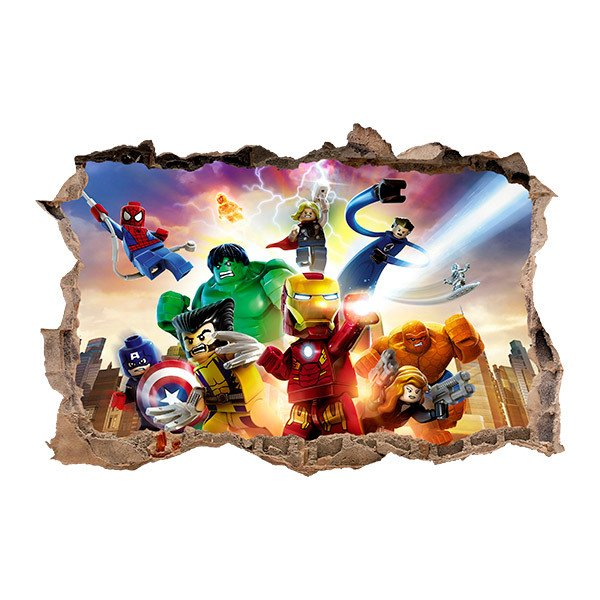 sticker mural enfant lego les avengers