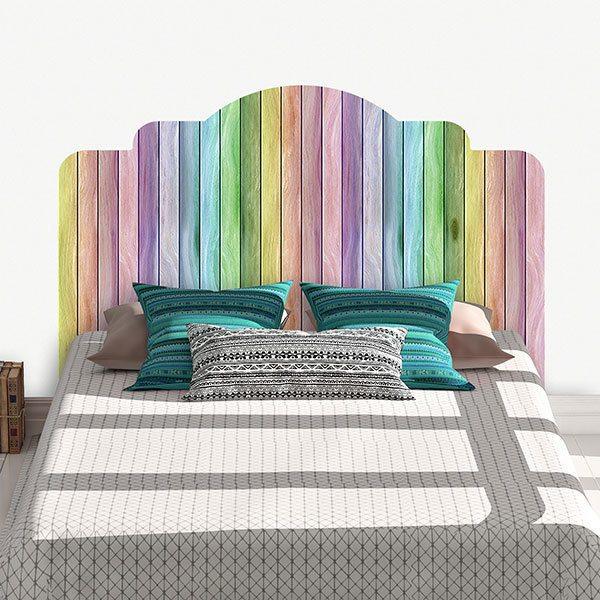 tete de lit originale deco arc en ciel