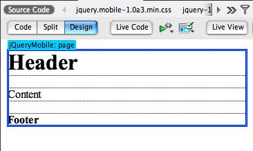 jquery mobile basic page