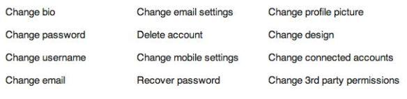 settings to change