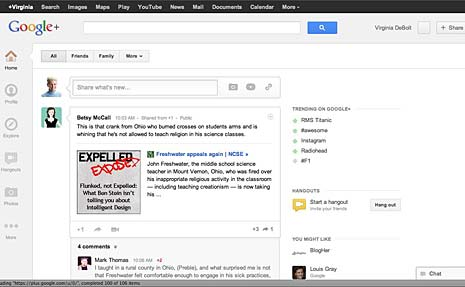 google+ new look
