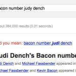 Judi Dench bacon number