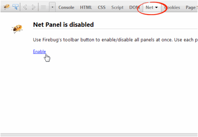 enable net tab