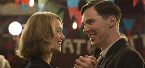 Keira Knightly and Benedict Cumberbatch in The Imitation Game.
