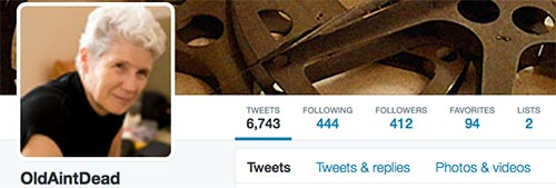 Screen grab of my Twitter Profile