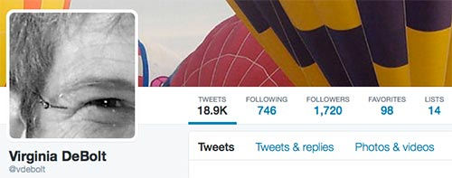 twitter profile for @vdebolt