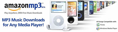 Amazon's beta MP3 Download site