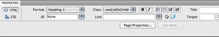 the html properties