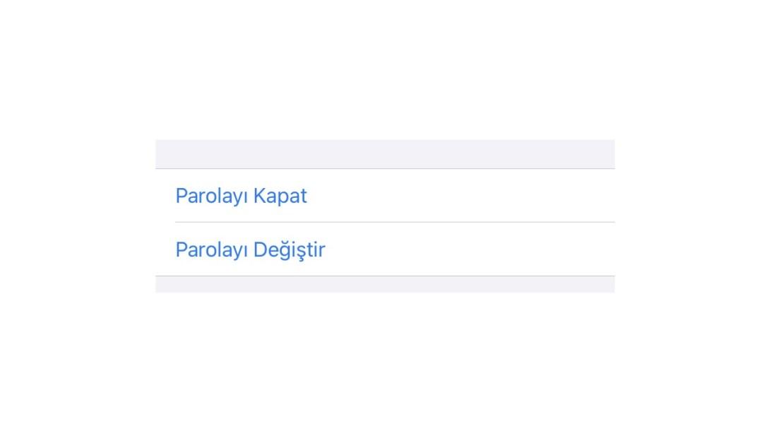 iPhone parolayı değiştir