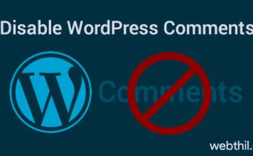 disable-WordPress-comments