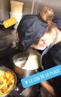 travail de l'aligot en cuisine