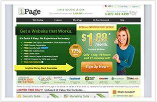 servicio de web hosting de ipage