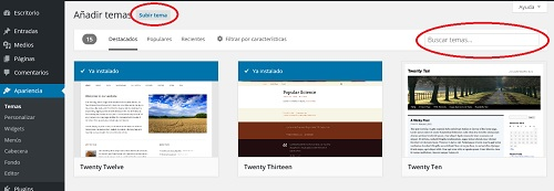 instalar temas en wordpress