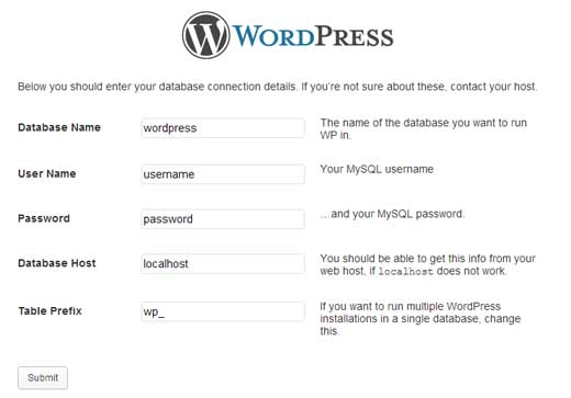 instalacion wordpress manual