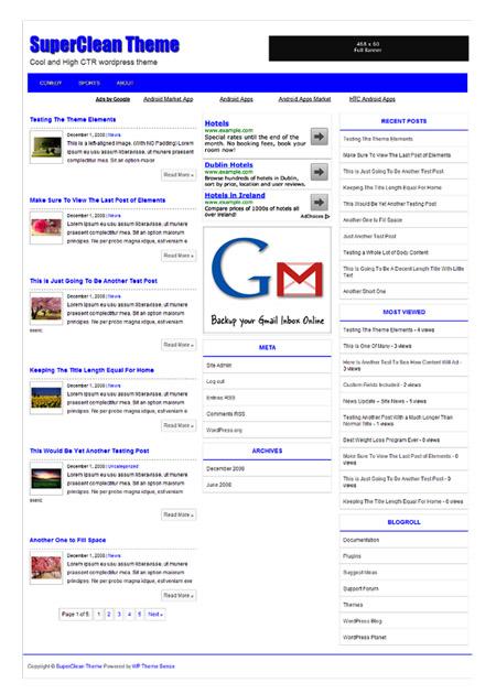 plantilla wordpress adsense gratis
