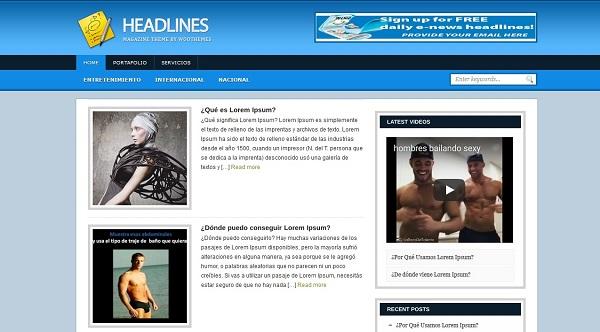 temas wordpress para blogs de noticias