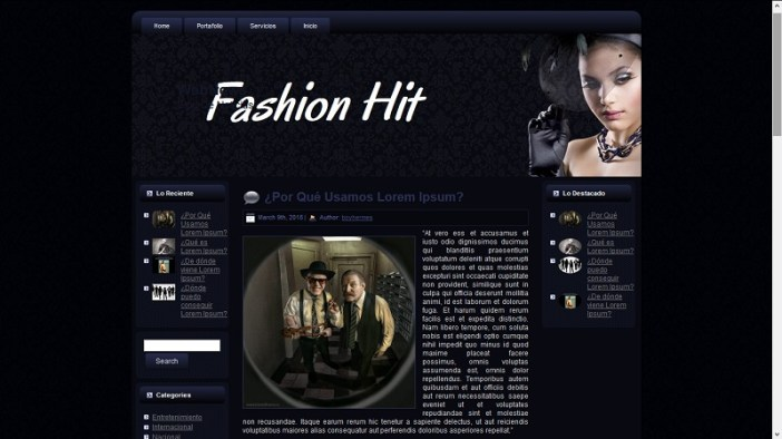 Tema Wordpress Para Blogs De Moda y Ropa » webtralia.com