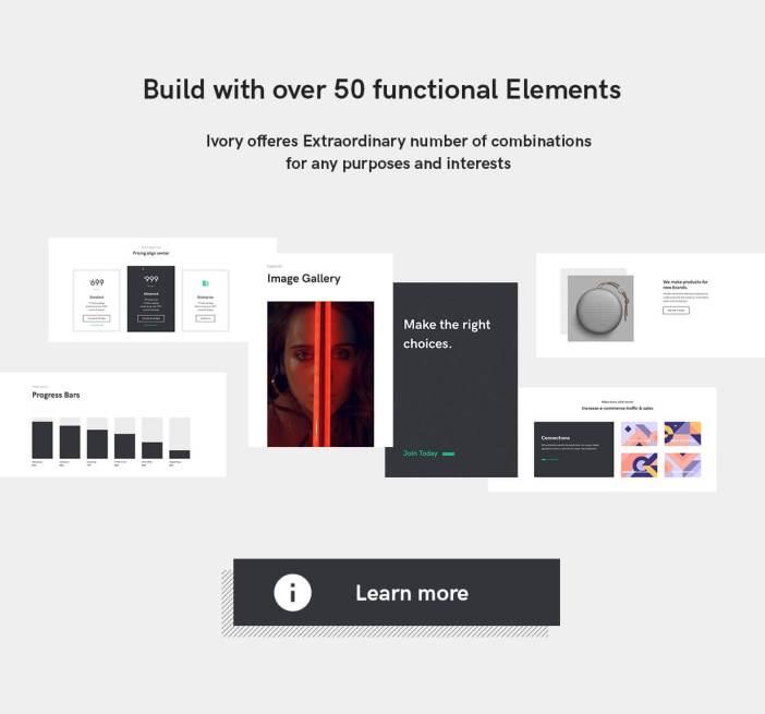 Elementos de plantilla HTML5 marfil