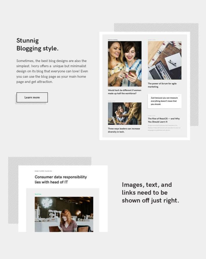 Marfil plantilla HTML5 Blog