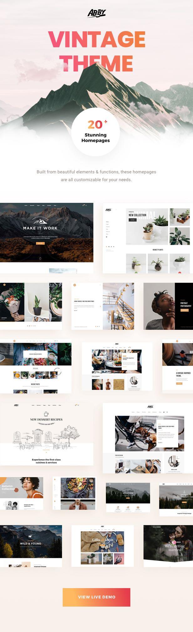 Abby - Tema de WordPress multiusos vintage