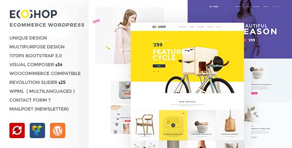 ECOSHOP - Tema de WordPress de comercio electrónico de usos múltiples