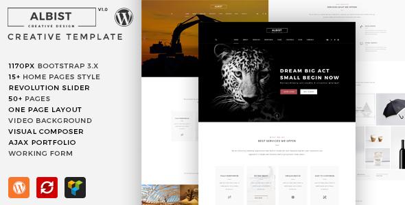 ALBIST - Tema de WordPress multiusos creativo