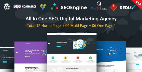 SEO tema de WordPress de marketing digital