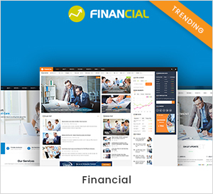 Tema de WordPress empresarial y financiero