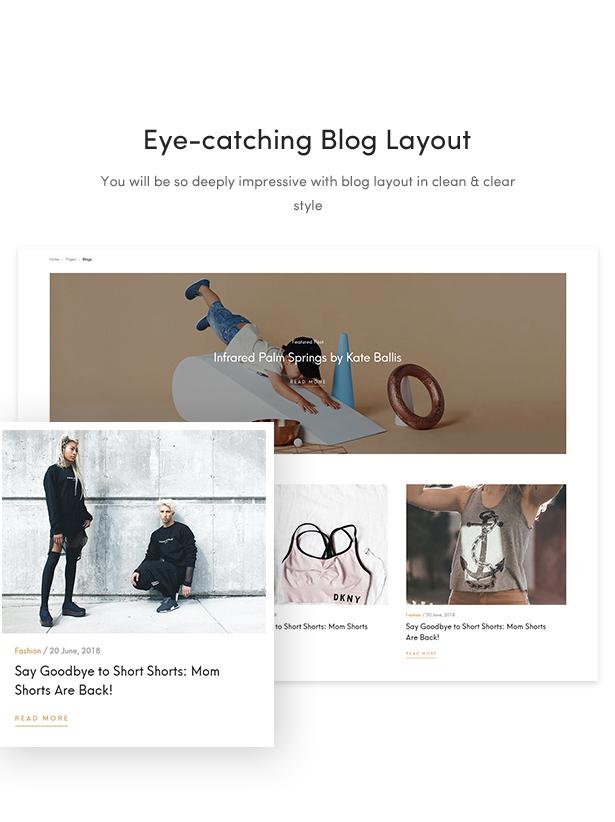 Los mejores temas de moda para wordpress 2018 - Diseño del blog.