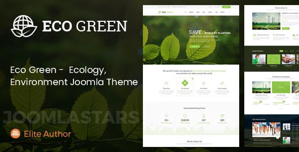 Eco Green - Tema Joomla para el medio ambiente, la ecología y la empresa de energía renovable - Medio ambiente sin fines de lucro