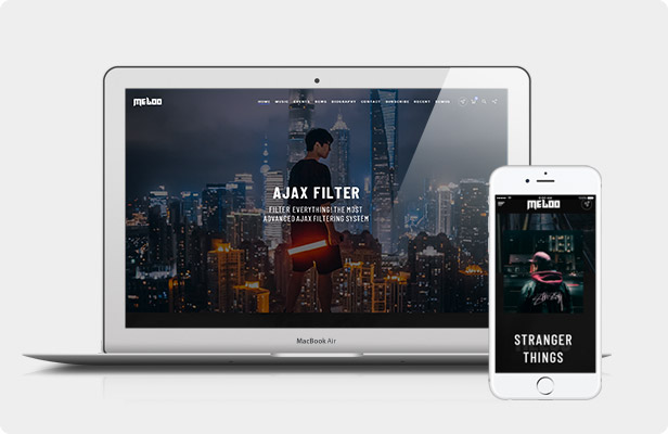 Tema Meloo WordPress - Vista previa en vivo
