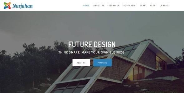 Nurjahan - Tema de Joomla de arquitectura creativa y negocios de interior - Empresa corporativa