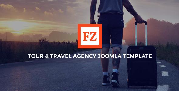FZ - Plantilla Joomla de agencia de viajes y viajes con Page Builder - Travel Retail