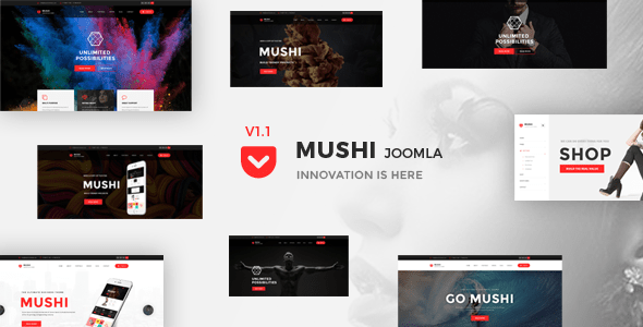 Mushi - El tema Joomla sensible multiusos - Joomla corporativo