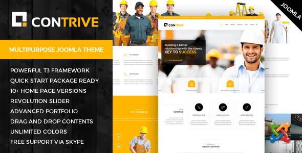 Contrive - Tema Joomla para empresas de construcción y construcción - Empresas corporativas