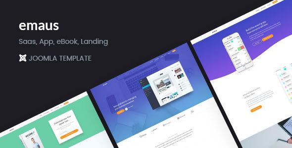 Emaus | Plantilla SaaS, WebApp, Ebook Responsive Joomla Landing Page - Tecnología de software