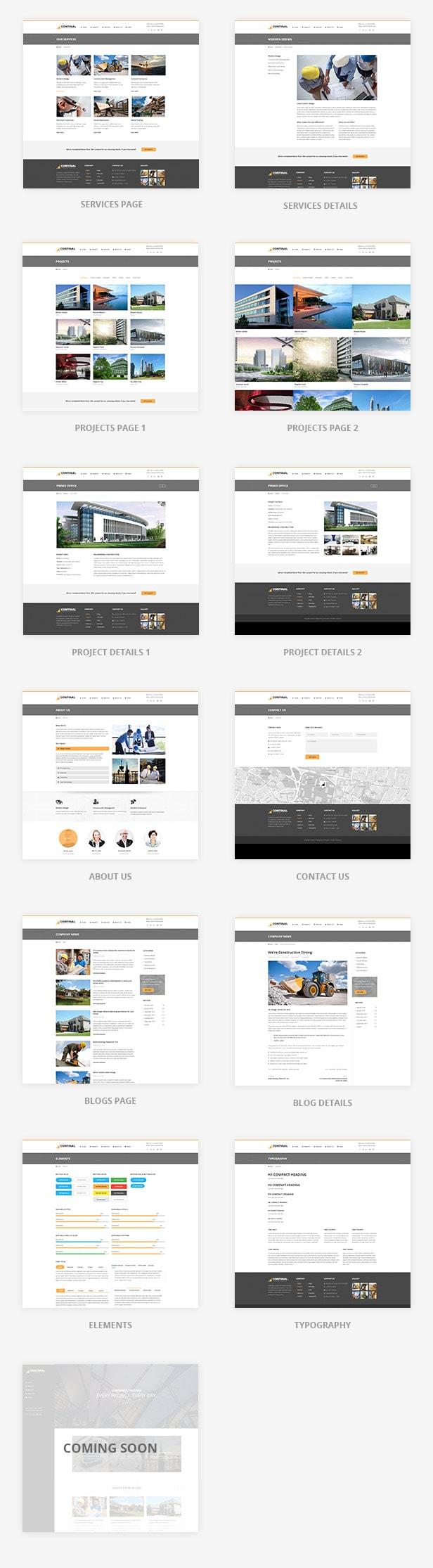 Continal - Plantilla HTML5 para la industria de la construcción 3