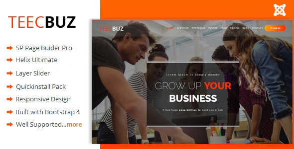 TeecBuz - Business Onepage Multi-Purpose Helix Ultimate Joomla Template - Empresa corporativa
