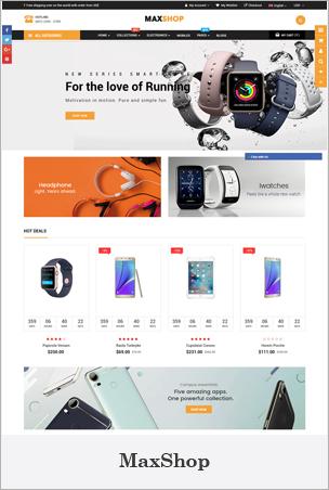 MaxShop - Tema multiusos avanzado de las secciones de Shopify