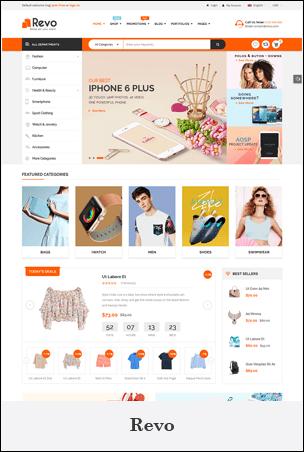 Revo - Creativo Multiuso Propósito Shopify Arrastrar y soltar Tema de las secciones