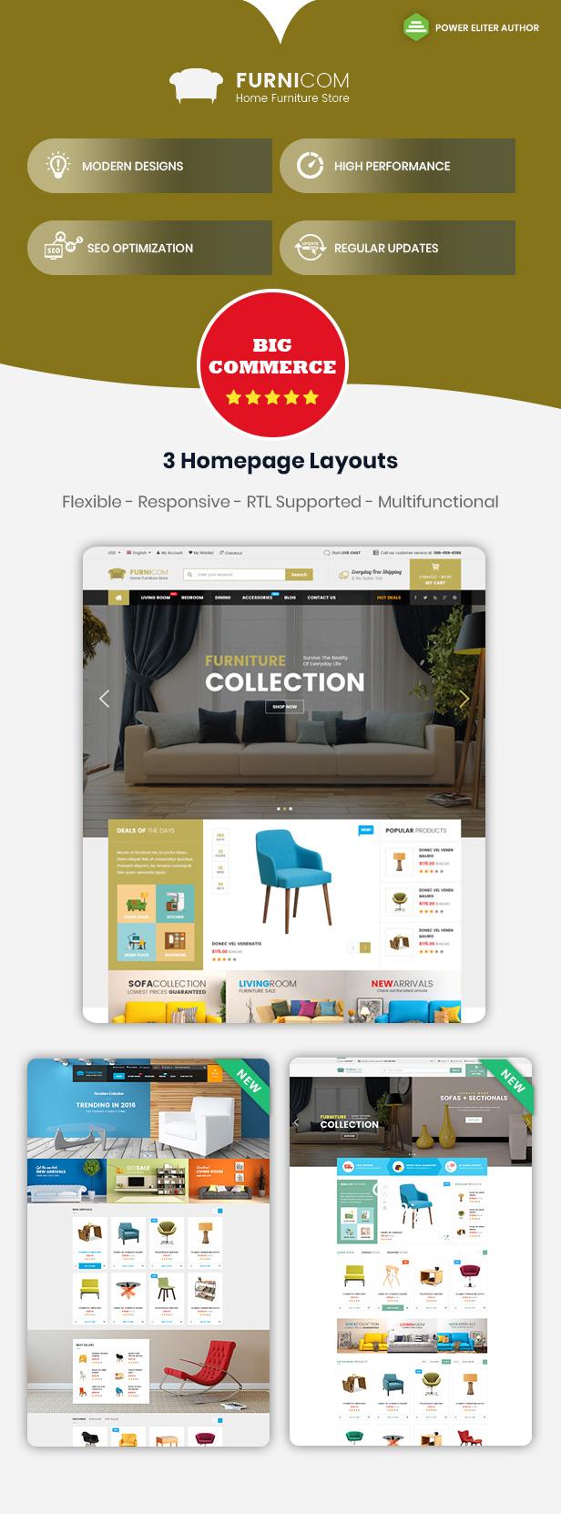 Furnicom - Tema MultiCommerce Responsivo para Plantilla de Uso Múltiple