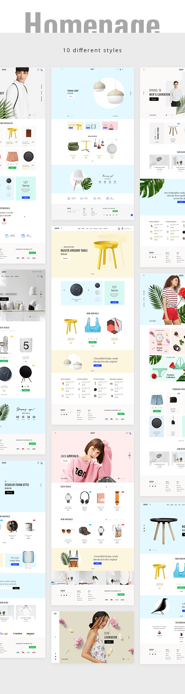 Shopify Daisy Homepages