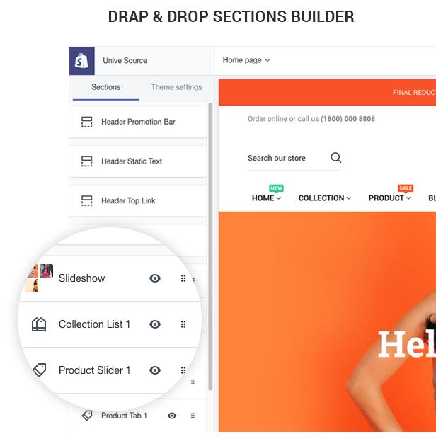 Drap & Drop Secciones