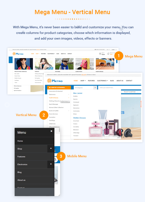 Metro - Tema PrestaShop 1.7 sensible de MarketPlace sensible - 5