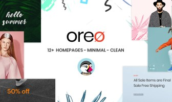 En Oreo Prestashop 1.7.5.x Theme for Fashion | Ropa | Bolsos | Zapatos | Accesorios