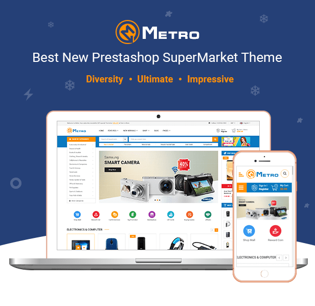 Metro - Tema PrestaShop 1.7 sensible de MarketPlace sensible - 1